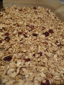 Granola before baking