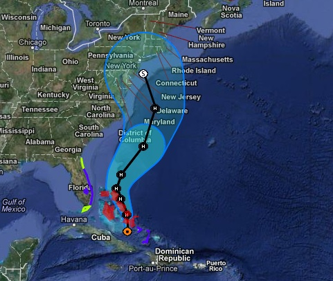 Hurricane Sandy's Path